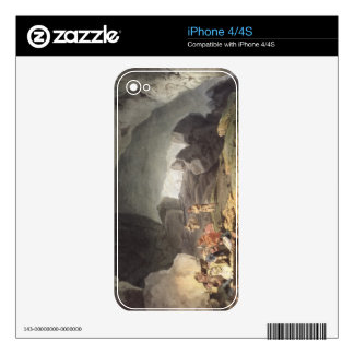 Peaks Hole, Derbyshire (colour engraving) Decal For The iPhone 4S