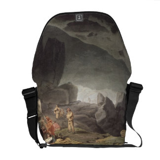 Peaks Hole, Derbyshire (colour engraving) Messenger Bag
