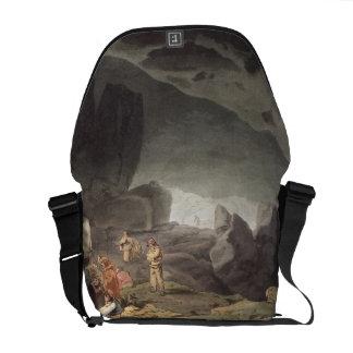 Peaks Hole, Derbyshire (colour engraving) Courier Bag