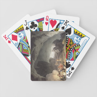 Peaks Hole, Derbyshire (colour engraving) Poker Cards
