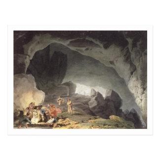 Peaks Hole, Derbyshire (colour engraving) Postcard