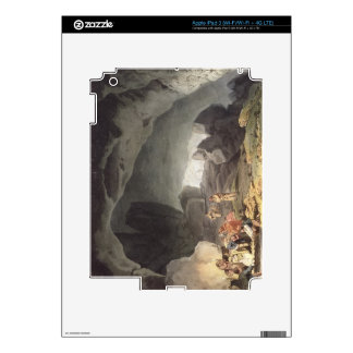 Peaks Hole, Derbyshire (colour engraving) Skins For iPad 3