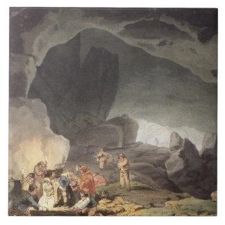 Peaks Hole, Derbyshire (colour engraving) Ceramic Tile