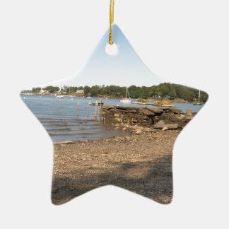 Peaks Island, ME Club Beach Ceramic Ornament