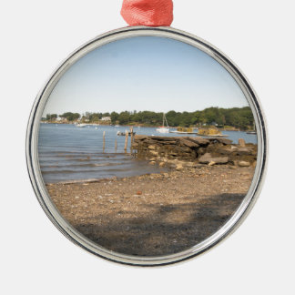 Peaks Island, ME Club Beach Metal Ornament