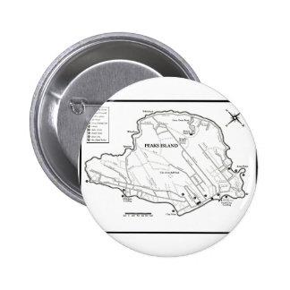 Peaks Island Pinback Button