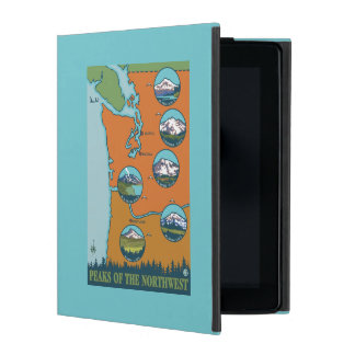 Peaks of the Northwest - 5 Different Mountains iPad Cases