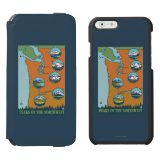 Peaks of the Northwest - 5 Different Mountains iPhone 6/6s Wallet Case
