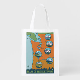 Peaks of the Northwest - 5 Different Mountains Market Totes