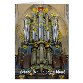 Pealing organ Christmas card - Breda