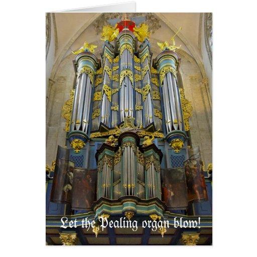 Pealing organ Christmas card - Breda