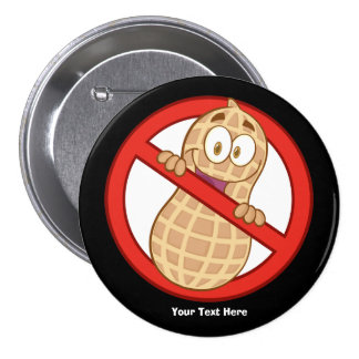 Peanut Allergy 2 (customizable) 3 Inch Round Button