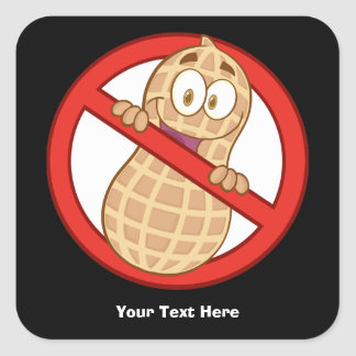 Peanut Allergy 2 (customizable) Square Sticker