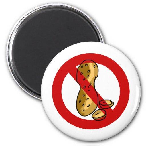 Peanut allergy 2 inch round magnet