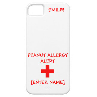 Peanut Allergy Alert iPhone Case