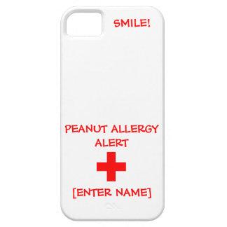 Peanut Allergy Alert iPhone Case iPhone 5 Cases