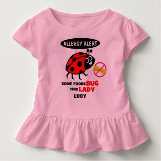 Peanut Allergy Alert Ladybug Shirt