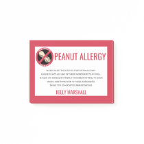 Peanut Allergy Alert Restaurant Custom Kids Post-it Notes
