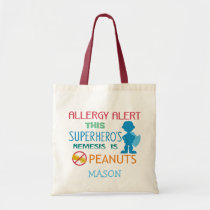 Peanut Allergy Alert Super Boy Hero Bag