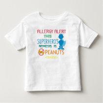 Peanut Allergy Alert Superhero Boys Shirt