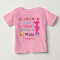 Peanut Allergy Alert Superhero Girls Shirt