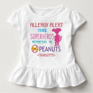 Peanut Allergy Alert Superhero Girls Shirt