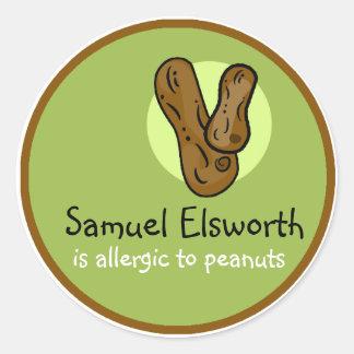 Peanut Allergy Customizable Sticker