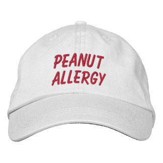 Peanut Allergy Embroidered Hat