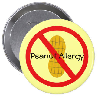 Peanut Allergy Pin in yellow