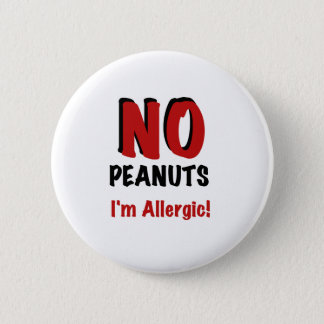 Peanut Allergy Pinback Button
