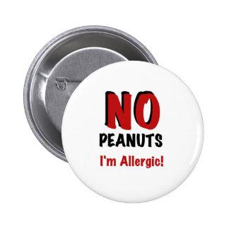 Peanut Allergy Pinback Button