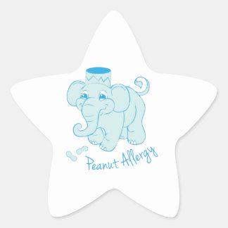 Peanut Allergy Star Sticker