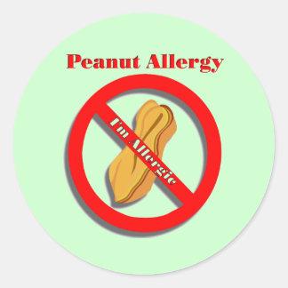 Peanut Allergy Sticker I'm Allergic in Green