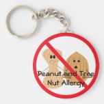 Peanut and Tree Nut Allergy Keychain