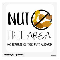 Peanut and Tree Nut Free Area School Office Wall Decal