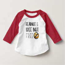 Peanut and Tree Nut Free Symbol Nut Allergy Alert T-Shirt