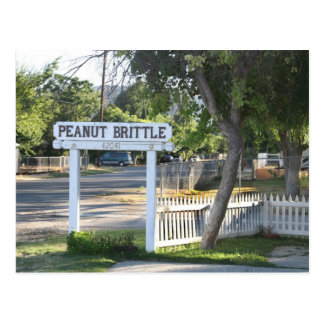 Peanut Brittle Sign in Murrieta, CA Postcard