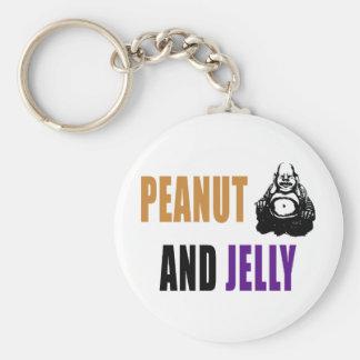 Peanut Buddha & Jelly Keychain