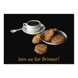 Peanut Butter and Coffee Brinner Invitation