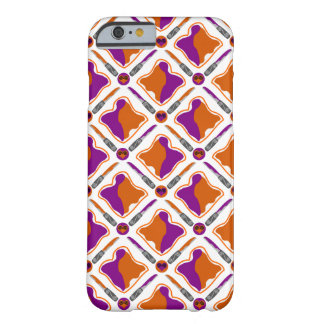 Peanut Butter and Grape Jelly Seamless Pattern Barely There iPhone 6 Case