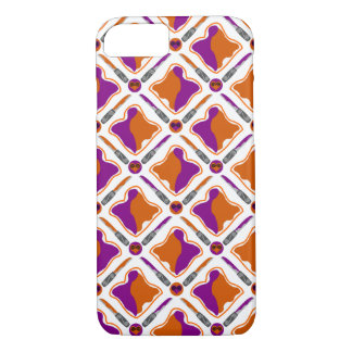 Peanut Butter and Grape Jelly Seamless Pattern iPhone 8/7 Case