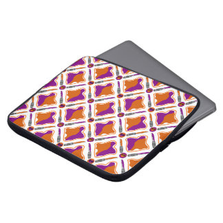 Peanut Butter and Grape Jelly Seamless Pattern Laptop Computer Sleeves