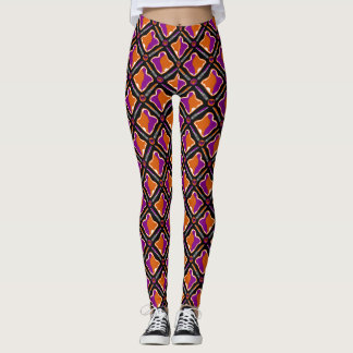 Peanut Butter and Grape Jelly Seamless Pattern Leggings
