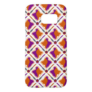 Peanut Butter and Grape Jelly Seamless Pattern Samsung Galaxy S7 Case