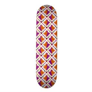 Peanut Butter and Grape Jelly Seamless Pattern Skateboard