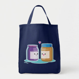 Peanut Butter and Jelly Grocery Tote Bag