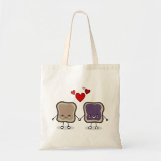 Peanut Butter and Jelly Tote Bags