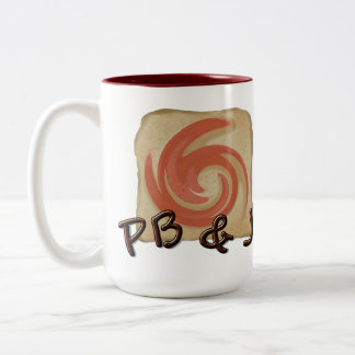 Peanut Butter and Jelly Coffee Time. Two-Tone Coffee Mug
