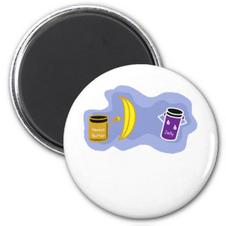Peanut Butter and Jelly Color.png 2 Inch Round Magnet