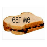 """Peanut Butter and Jelly """"EAT ME"""" SANDWICH PRINT Postcards"""